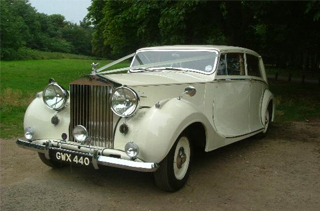 Vintage wedding cars Sutton